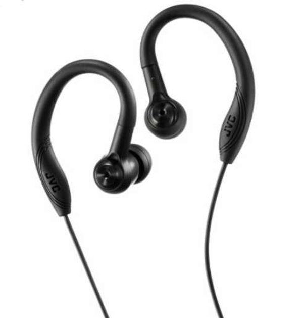 Save 52% - JVC Sports HA-EC10-B Sports In-Ear Wired Headphones - Black