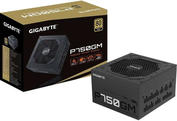 GIGABYTE P750GM 750w 80 Plus Gold Fully Modular Power Supply