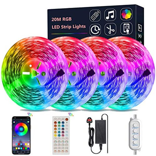 Save 52% - DEAL STACK - LED Strip Lights with Remote + £6 Coupon