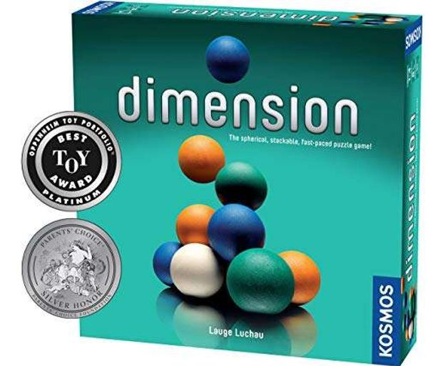 Thames & Kosmos 692209 TAK692209 Dimension   The Spherical Stacking Dimensional Family Board Game, 2-4 Players  , Standard