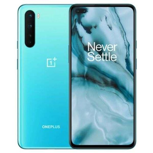 Save £40.50 - OnePlus NORD - 128GB Unlocked Android Smartphone in Blue Marble or Grey Onyx, UK