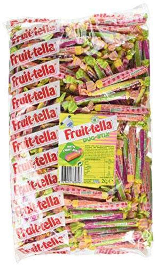 Save 31% - Fruittella Duo Stix Bulk Chewy Sweets Multipack Bag, 2 kg