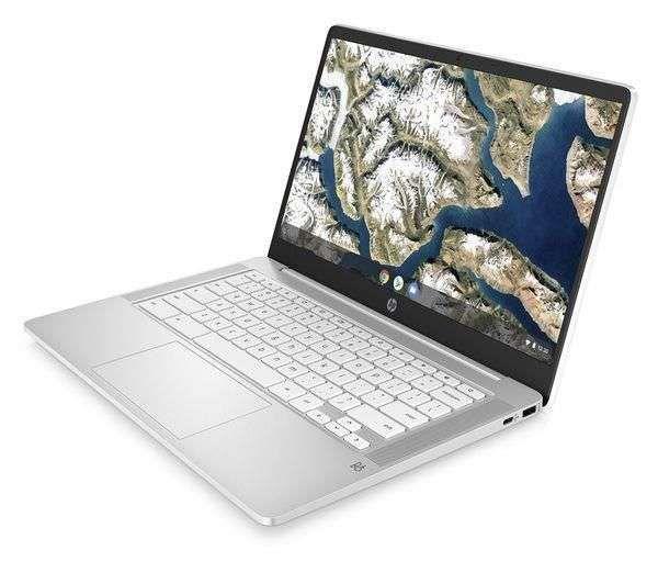 "Save £24.05 - HP 14a 14"" Chromebook - Intel® Celeron®, 64 GB eMMC, White REFURB-B"