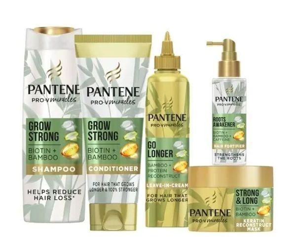 Pantene Grow Strong Hair Treatment Bundle with Bamboo