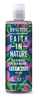Save 39% - Faith in Nature Natural Lavender & Geranium Body Wash, Nourishing Vegan & Cruelty Free, Parabens and SLS Free, 400 ml
