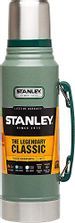 Save 25% - STANLEY Legendary Classic 1.0L Hammertone Green 18/8 Stainless Steel Double-Wall Vacuum Insulation Water Bottle Leakproof + Packable Naturally Bpa-Free, 1 L